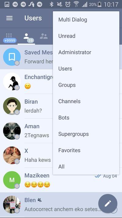 تحميل Plus Messenger – تندر (برابط مباشر, APK ) للأندرويد