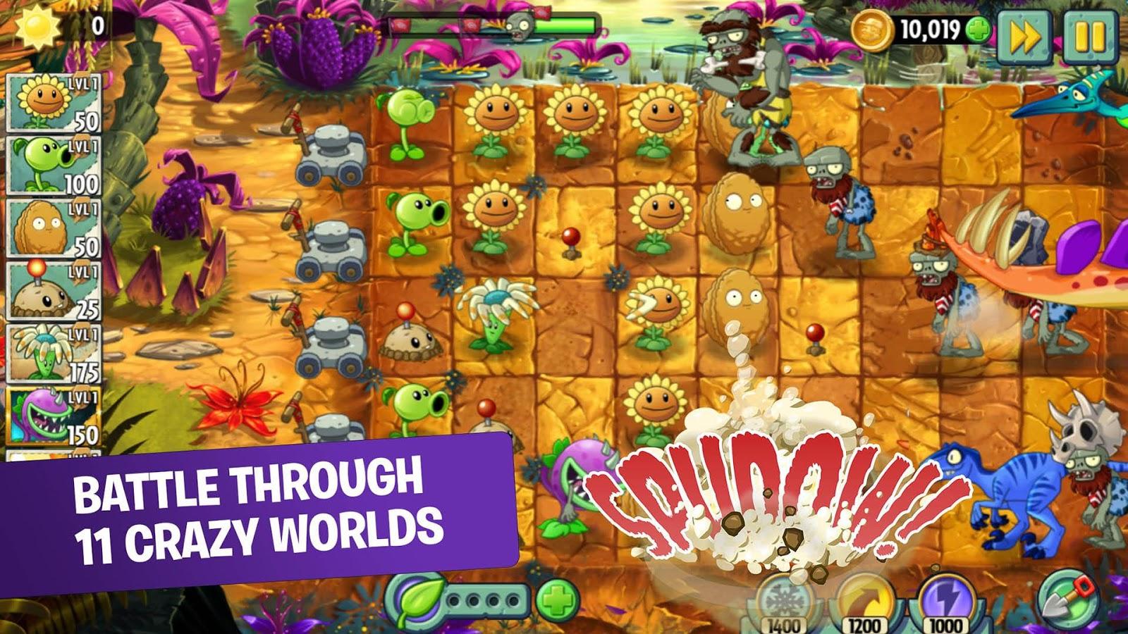 تحميل لعبة plants vs zombies 2 مهكرة