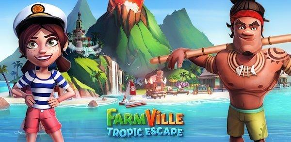 لعبة FarmVille: Tropic Escape مهكرة لـ اندرويد