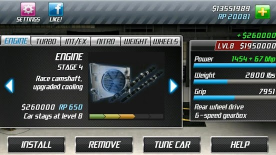 تحميل Drag Racing مهكرة لـ اندرويد