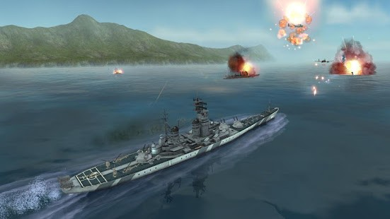 تحميل WARSHIP BATTLE:3D World War II 3.0.8  لـ اندرويد