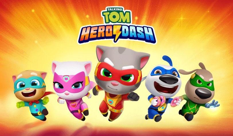 تحميل لعبة Talking Tom Hero Dash مهكرة